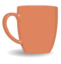 orange mug vector image