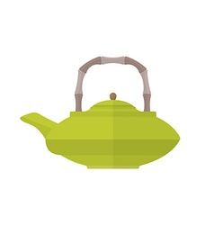 Colored flat asian teapot vector