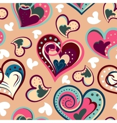 Romantic seamless pattern with colorful hand draw vector