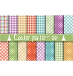 Easter geometric patterns vector