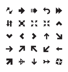 Mini arrows icons 4 vector