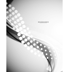 Grayscale wave background vector