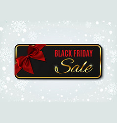 black friday sale banner on winter background vector image vector image