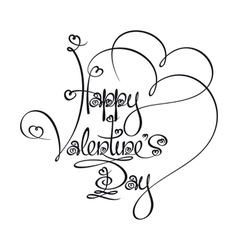 Caligraphic text happy valentines day vector