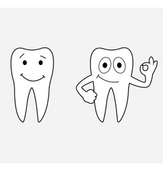 Cartoon teeth vector image