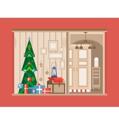 Christmas tree interior vector image vector image