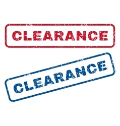 Clearance rubber stamps vector