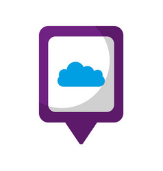 Cloud social media square pointer web vector