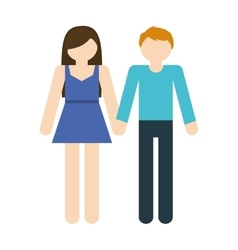Couple romantic love holding hands vector