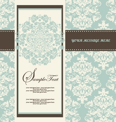 Damask Wedding Invitations vector image