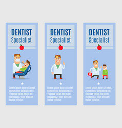 dentist specialist flyers design vector image