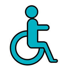 disabled sign isolated icon vector image vector image