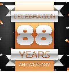 Eighty eight years anniversary celebration golden vector