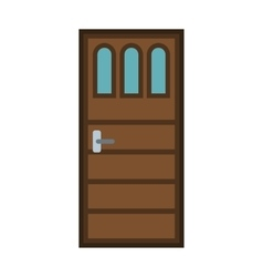 Front door to house icon flat style vector image