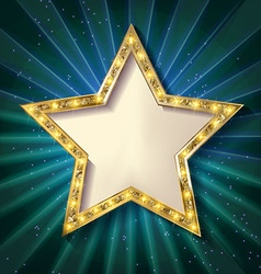 Gold star on a dark background vector