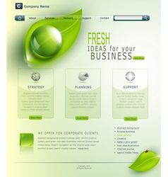 green website vector image vector image