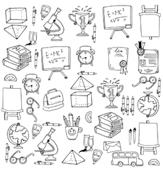 Hand draw object education doodles vector