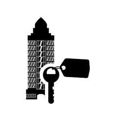 Key hotel building silhouette design vector