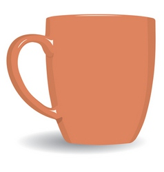 orange mug vector image vector image