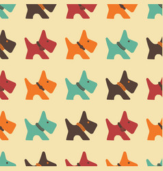 pattern with colored dogs vector image