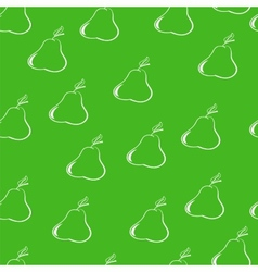 pears on a dark green background vector image vector image
