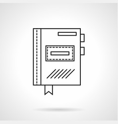 planner flat line icon vector image