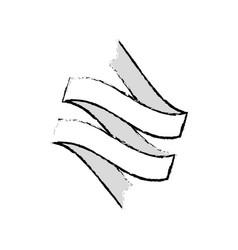 Ribbon banner decoration sketch vector