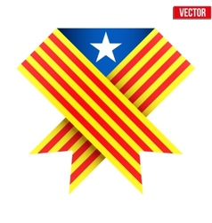 Ribbon of independence Catalonia vector image vector image