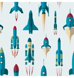 Set of rockets pattern vector image