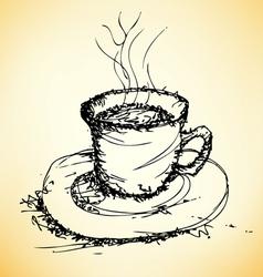 sketch of coffee vector image vector image