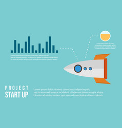 Start up business infographic with graph vector