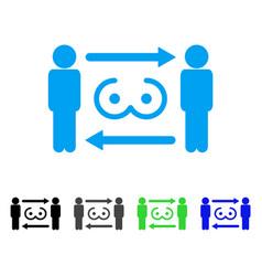 Swingers exchange icon vector