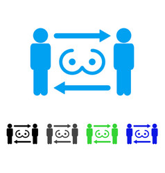swingers exchange icon vector image