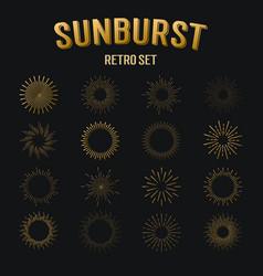 Tribal boho starburst sunburst hipster logo vector
