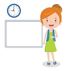 woman or girl on presentation vector image