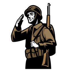 world war soldier vector image vector image