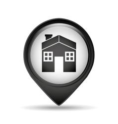 symbol house pin map icon design vector image