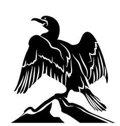 Cormorant vector image