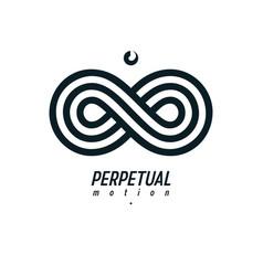 Endless infinity loop symbol conceptual logo vector