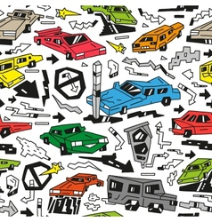 Cars doodles vector