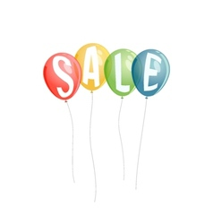Sale background with colorful balloons vector