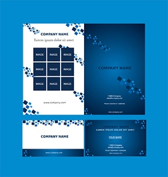 Brochure and business card template vector
