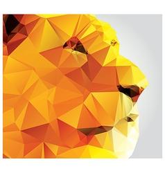Geometric polygon lion head triangle pattern vector image