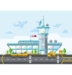 Airport modern flat design vector