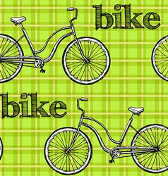 Seamless pattern bikes vector