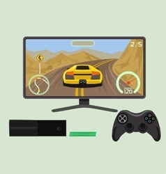 Gameplay game console vector