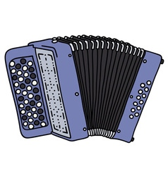 Blue accordion vector