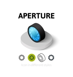 Aperture icon in different style vector