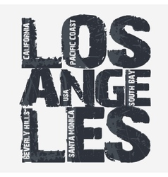 Los angeles city typography design vector