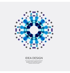 Colorful pattern of dots circular ornament vector
